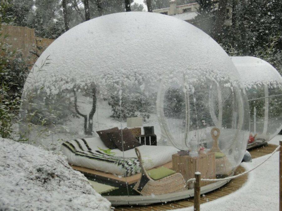 Bubble room sotto la neve