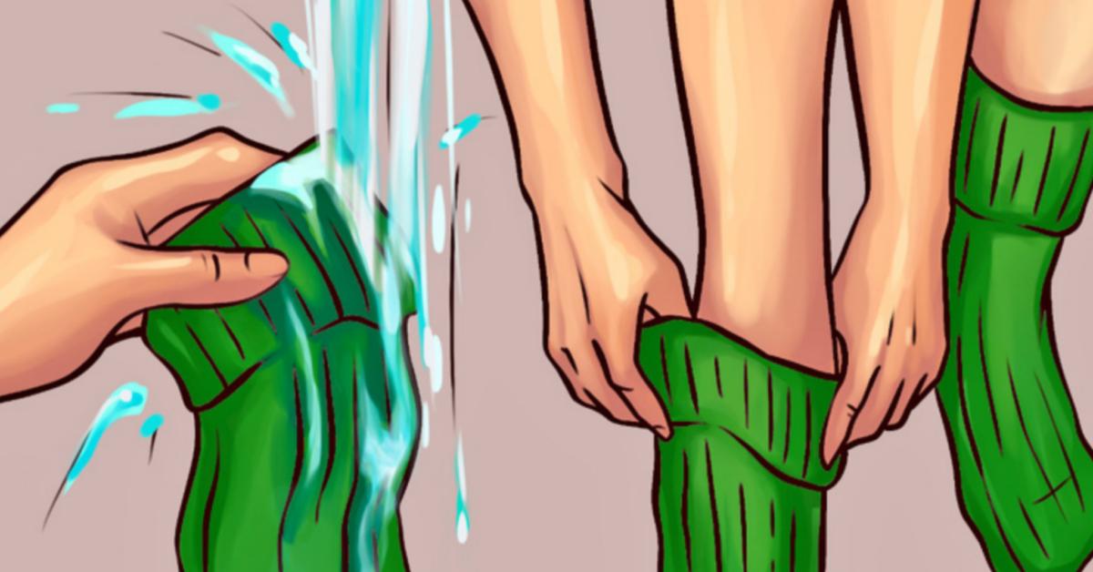 Dormire con i calzini bagnati fa bene alla salute