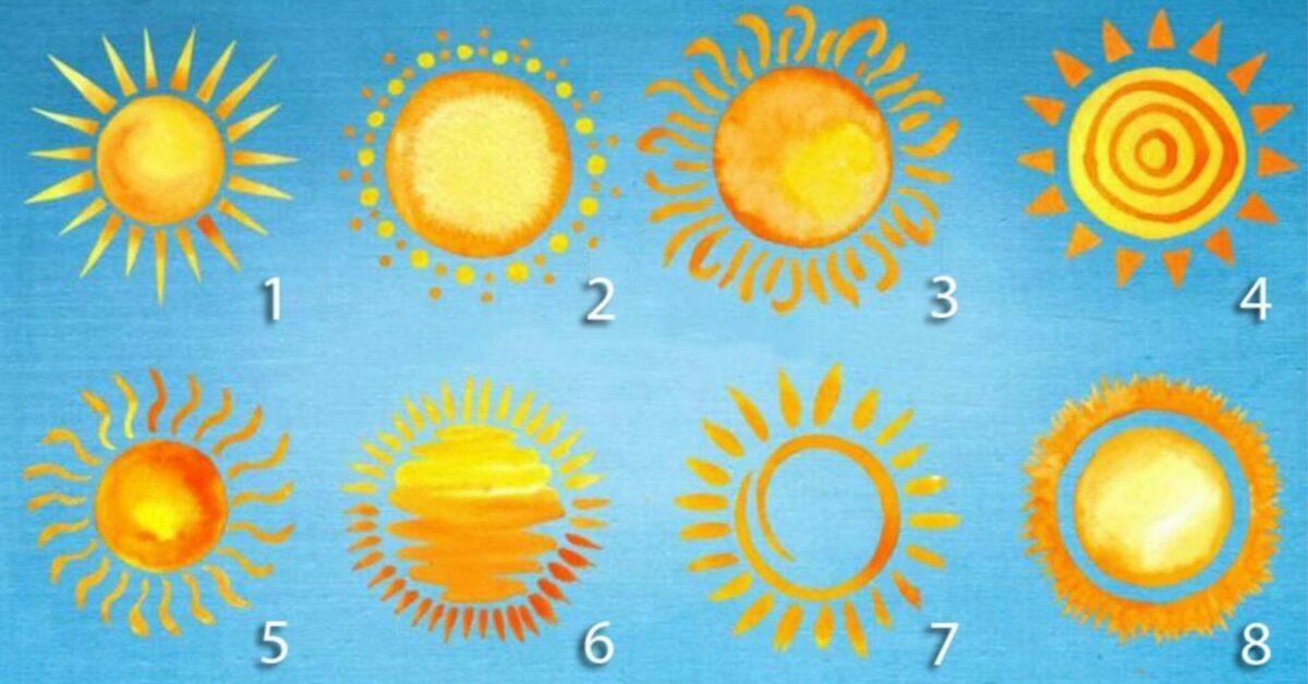 Scegli un sole e scopri la tua personalità