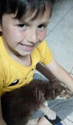 Nicolas-salva-la-vita-del-cagnolino-maltrattato 2