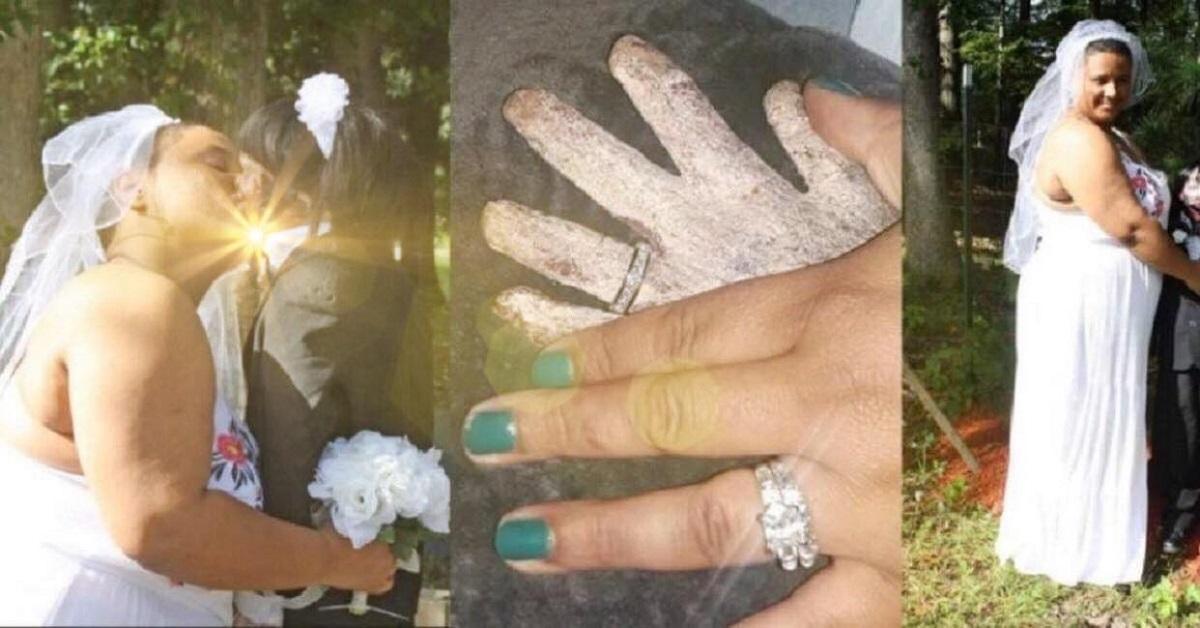 Donna sposa la sua bambola di 8 anni