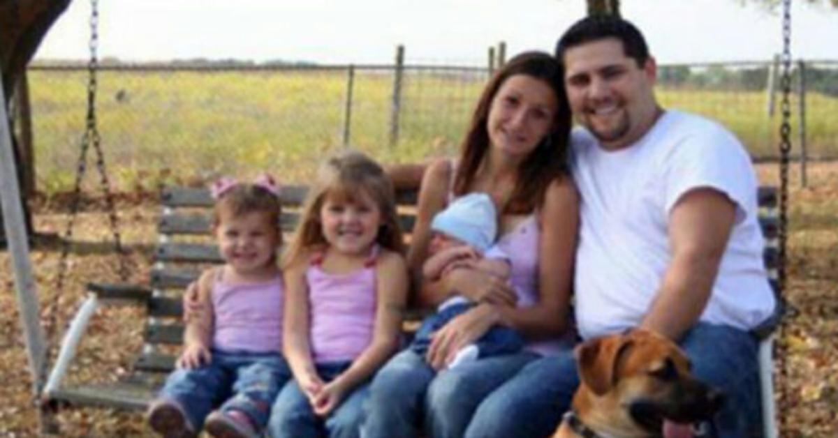 Il dettaglio nella foto di una famiglia