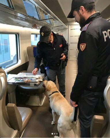controlli-treno-cane-polizia