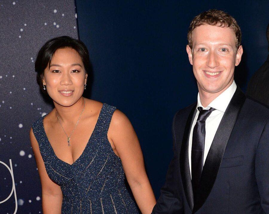 Mark Zuckerberg e la moglie Priscilla Chan