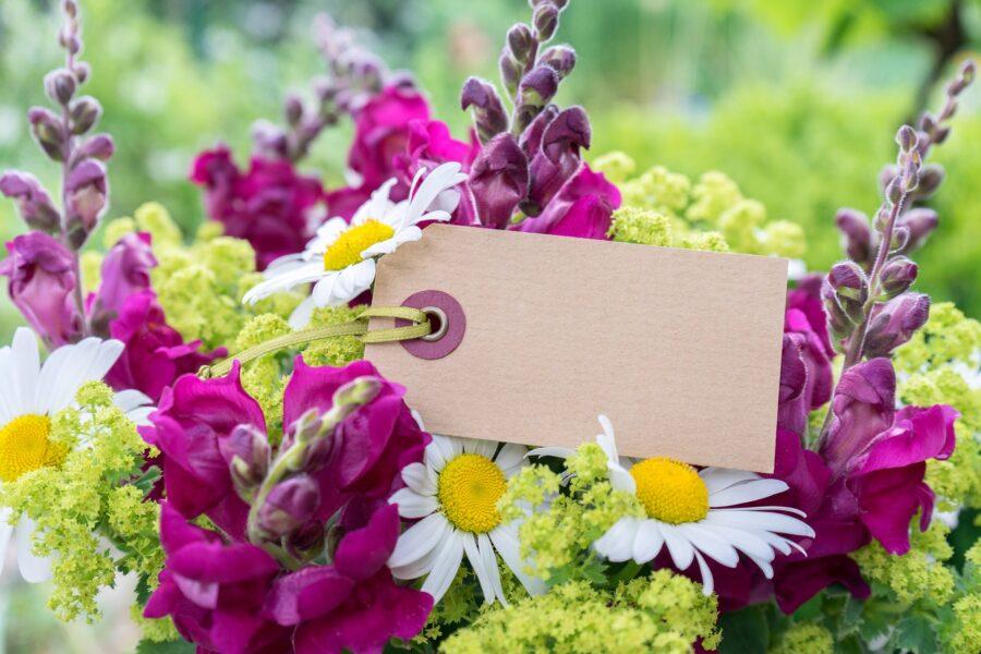 Regalare fiori con frasi