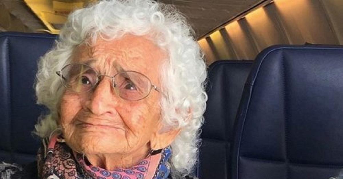 Viaggia per la prima volta in aereo a 106 per vedere suo figlio gravemente malato
