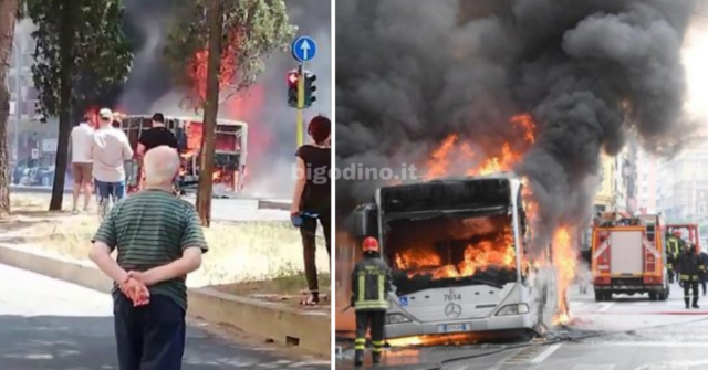 Roma bus incendio