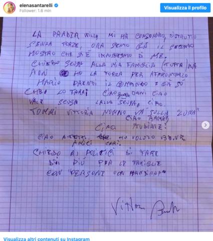 lettera zio Elena Santarelli