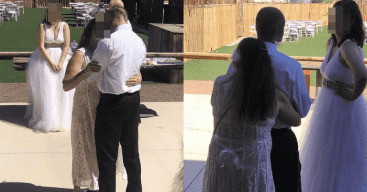 Suocera si veste da sposa al matrimonio del figlio e balla con lui mentre la sposa guarda