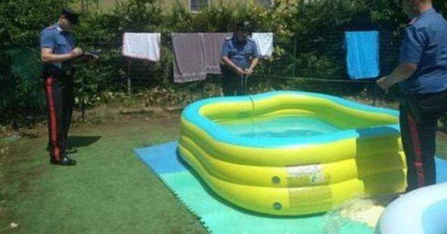 piscina gonfiabile carabinieri