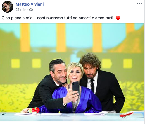 Matteo Viviana saluto Nadia Toffa
