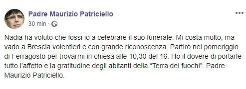 don Maurizio funerale Nadia Toffa