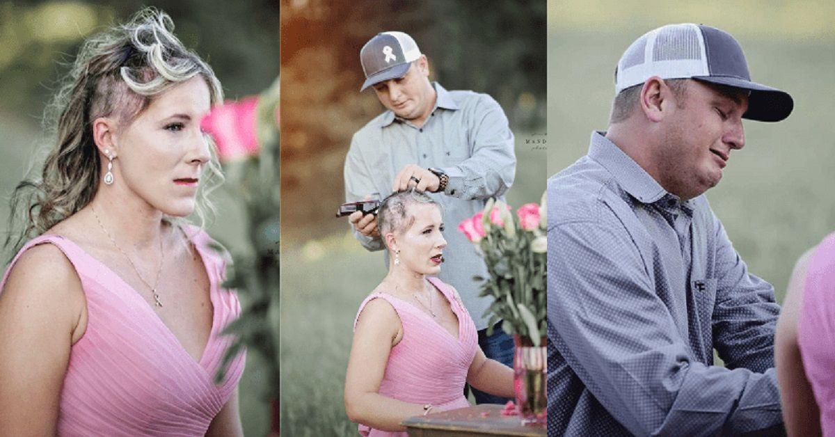 Marito rade i capelli della moglie subito dopo il matrimonio