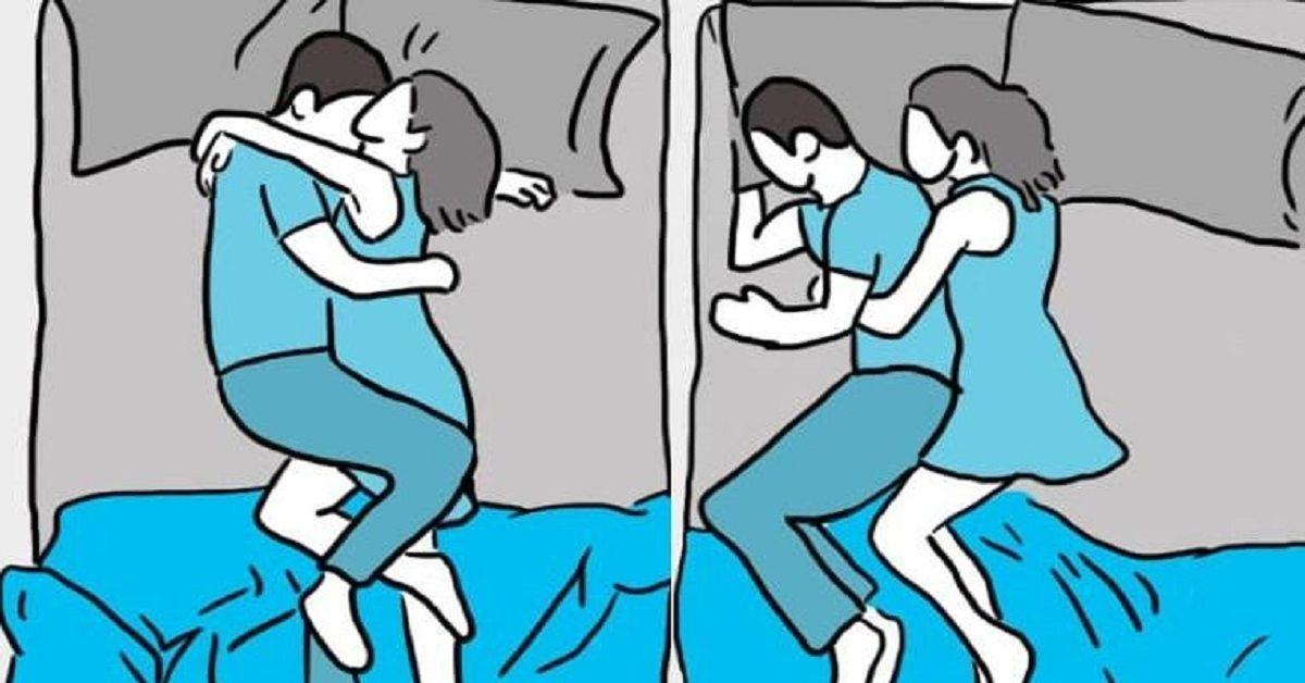 La posizione in cui dorme la coppia dice molto sulla relazione