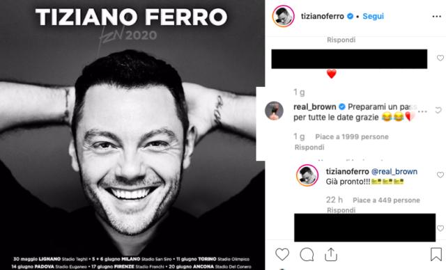 commento Emma Marrone Tiziano Ferro