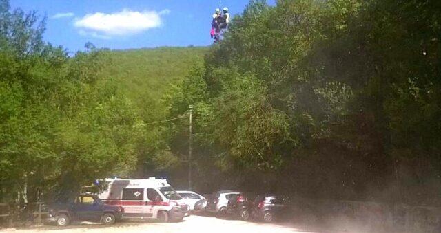 ambulanza-118-incidente-moto-cross-Trasacco-Candelecchia-2