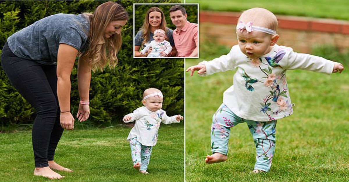 Mamma sorpresa dalla figlia che inizia a camminare a soli sei mesi