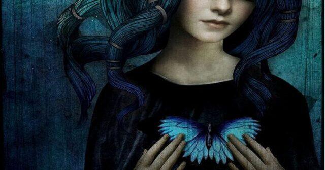 donna-farfalla