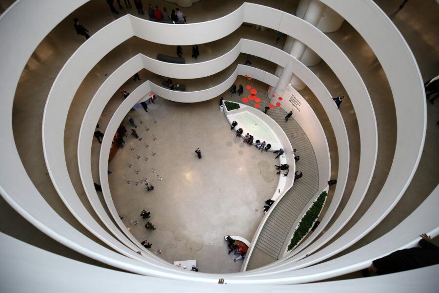 Museo Guggenheim di New York, realizzato da Frank Lloyd Wright