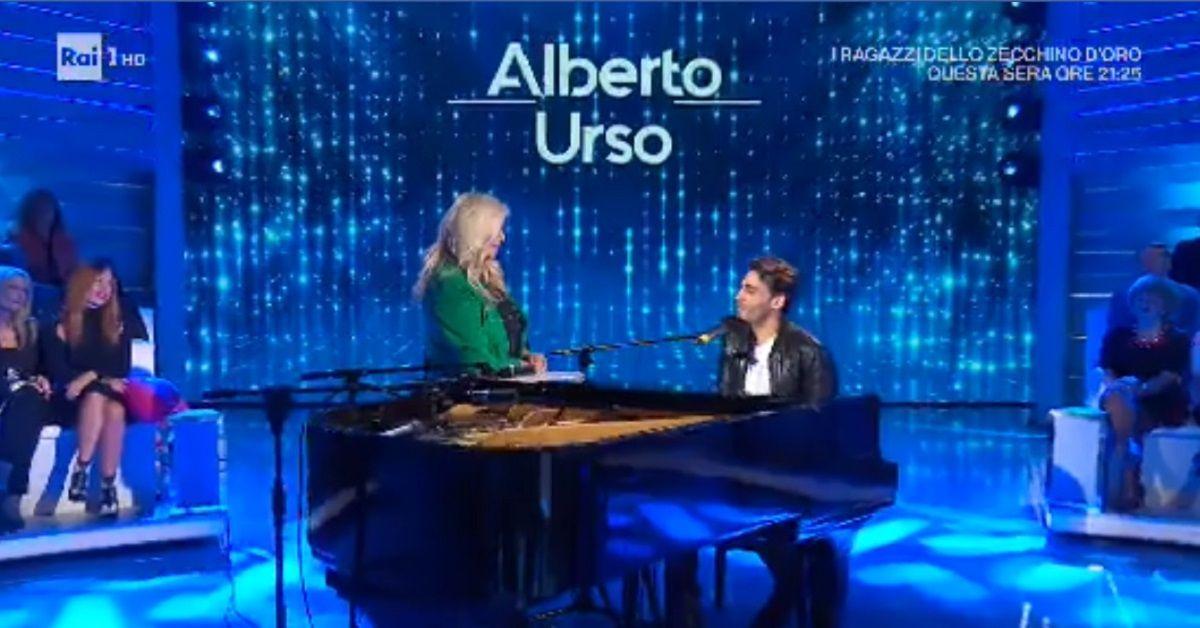 Alberto-Urso-Mara-Venier-domenica-in