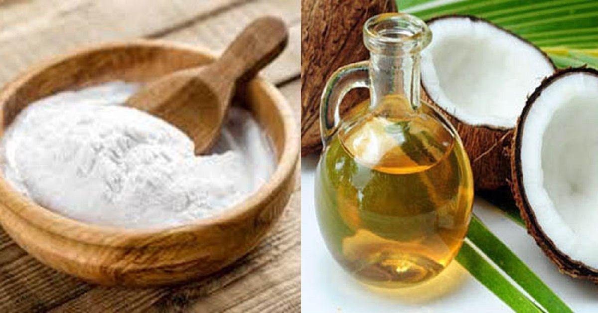 Esfoliante all'olio di cocco e bicarbonato di sodio