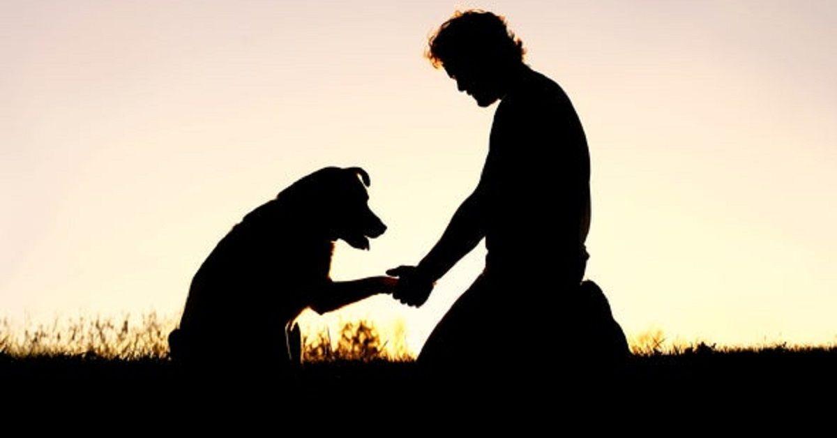 sagoma-uomo-cane