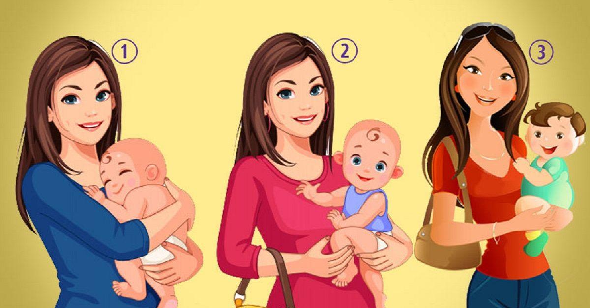 Test della personalità: quale tiene in braccio il figlio di un'altra persona?