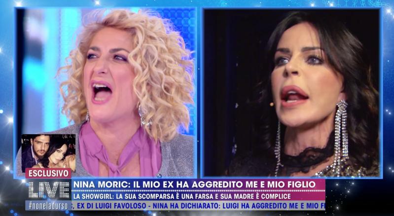 Nina Moric, Luigi Favoloso violento con lei e il figlio