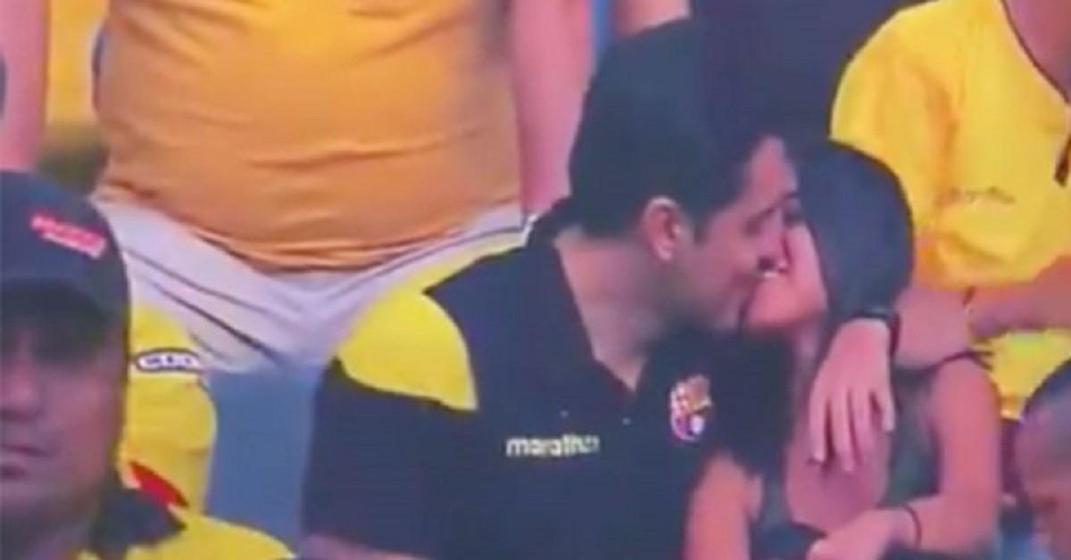 Tradisce la moglie allo stadio, ma le telecamere lo smascherano