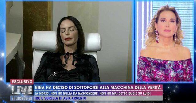 Live – Non è la D'Urso: Luigi Maria Favoloso in studio e Nina Moric si sottopone alla macchina della verità