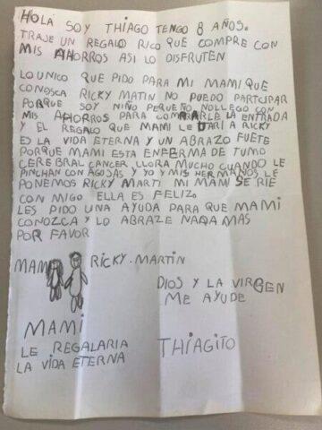 Una lettera per Ricky Martin