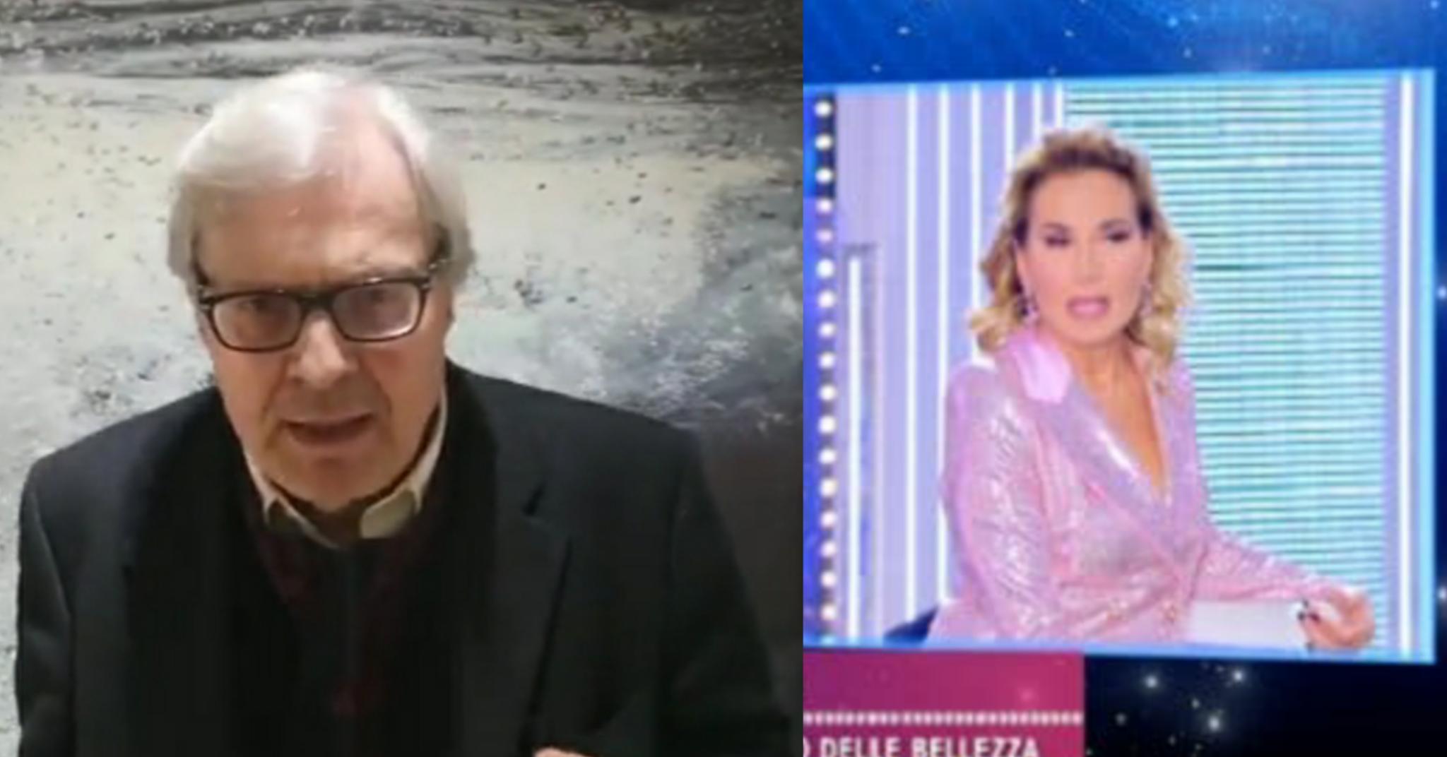 Vittorio Sgarbi denuncia Barbara D'urso dopo lo scontro in d
