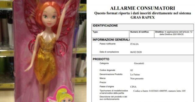 """Allarme Ministero della Salute: ritirata bambola """"Le Fatine"""""""
