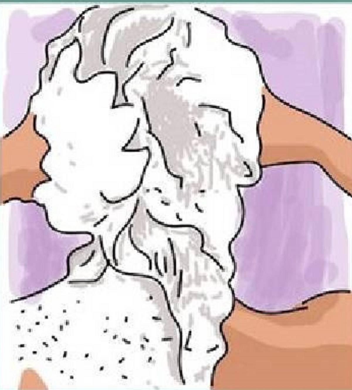 donna lava capelli