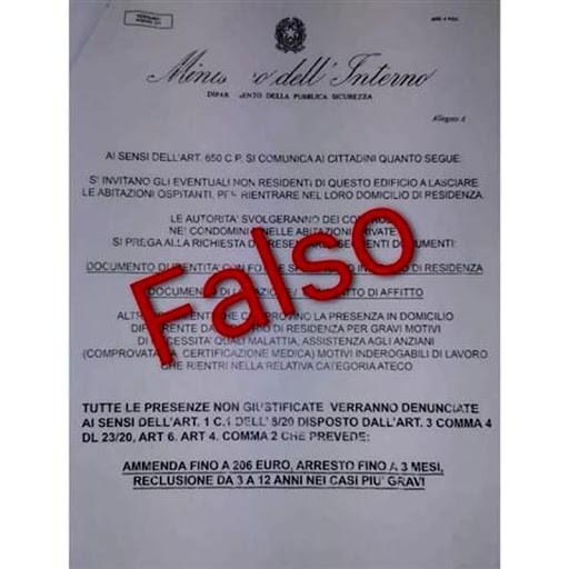 Coronavirus, la truffa del falso volantino del ministero: se