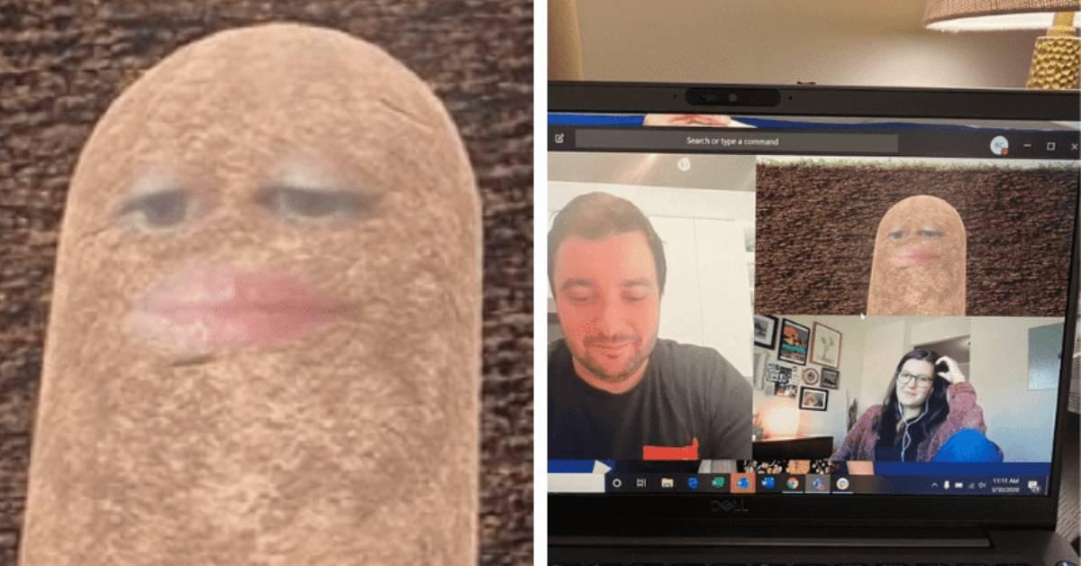 video call con una patata