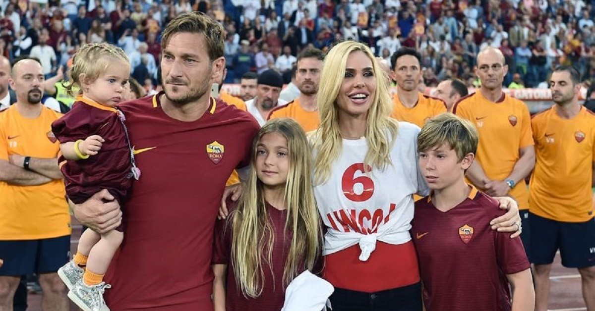 Francesco Totti famiglia stadio