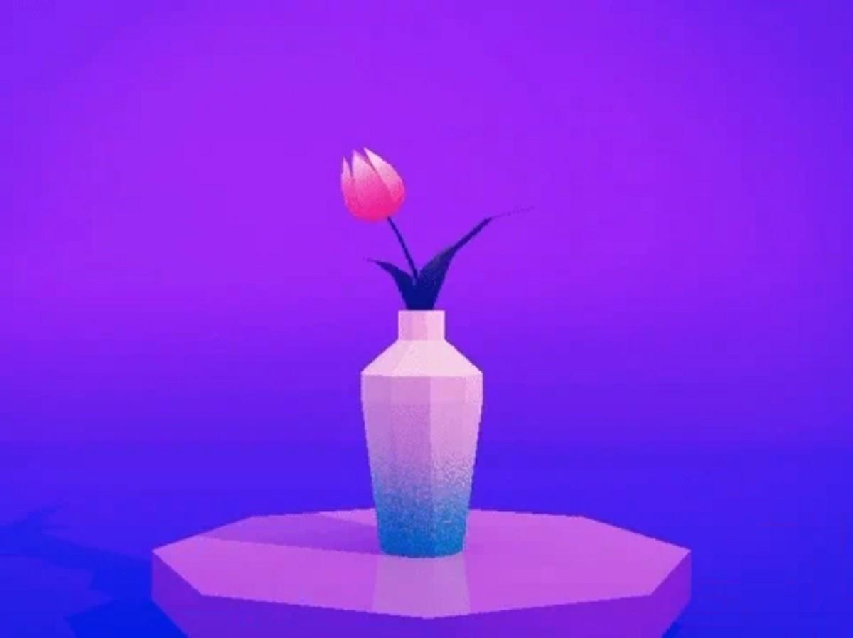 vaso con fiore