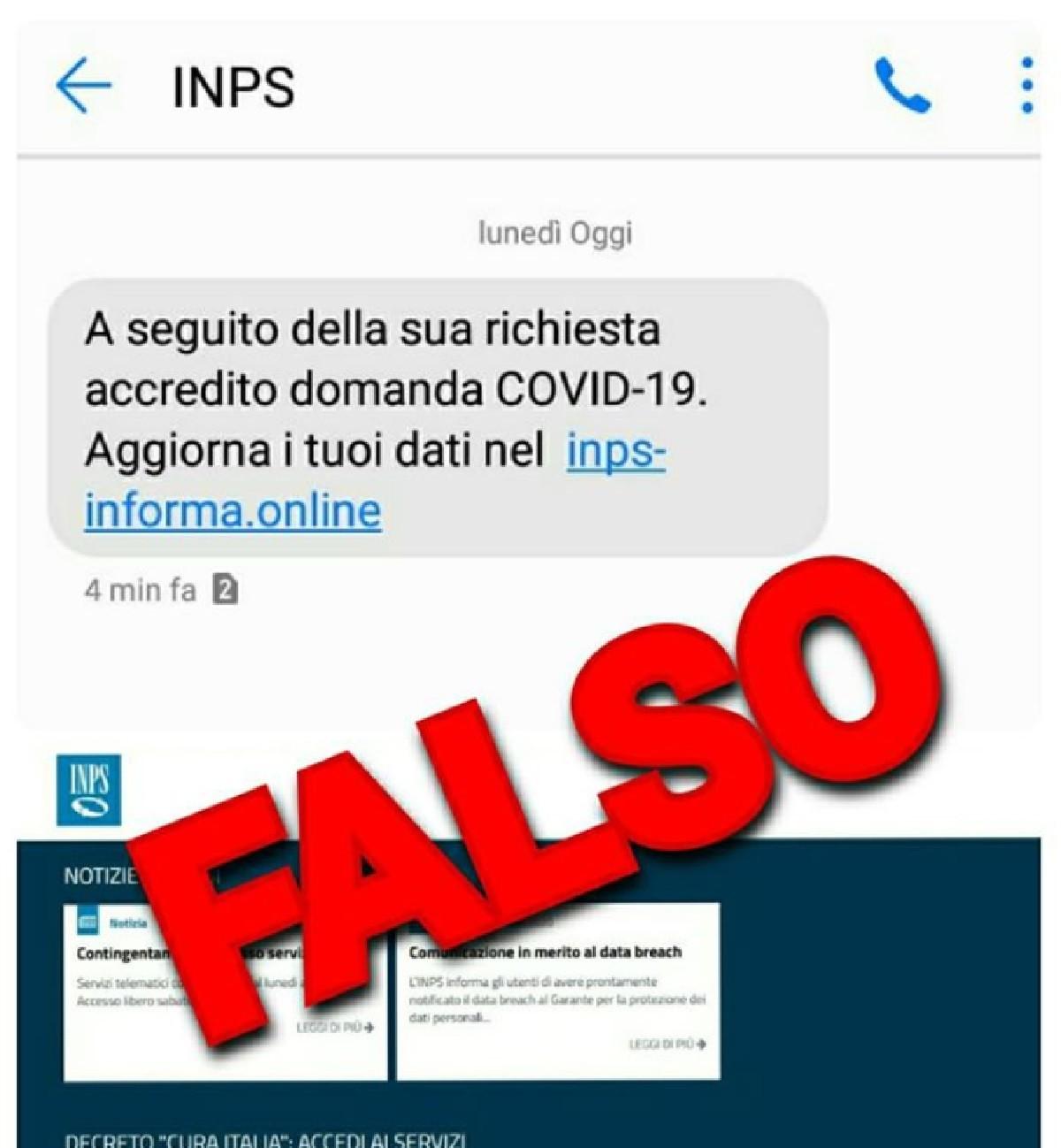 Inps segnala la truffa del falso sms per il bonus da 600 eur