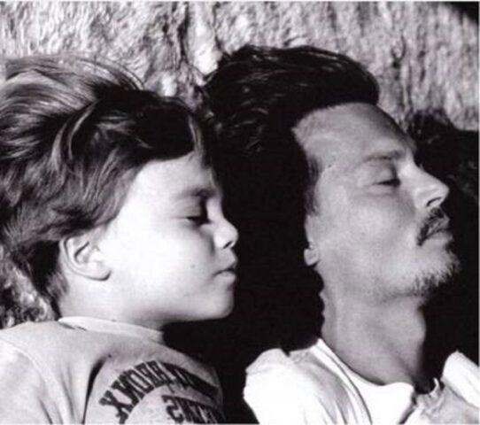 Johnny Depp e il figlio