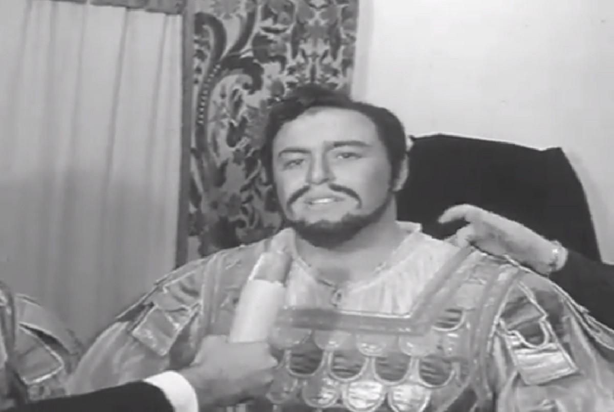 Luciano Pavarotti da giovane