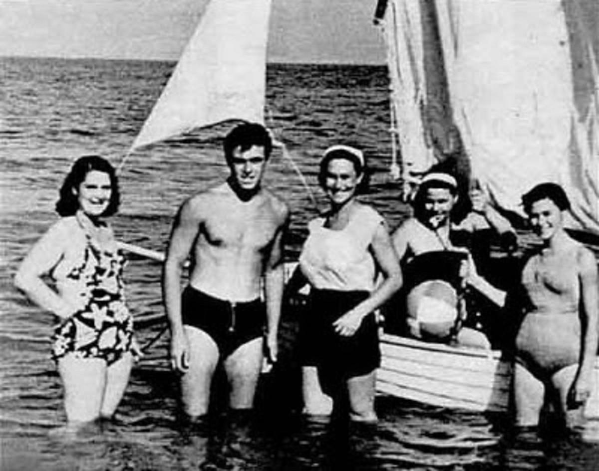 Luciano Pavarotti e la sua famiglia