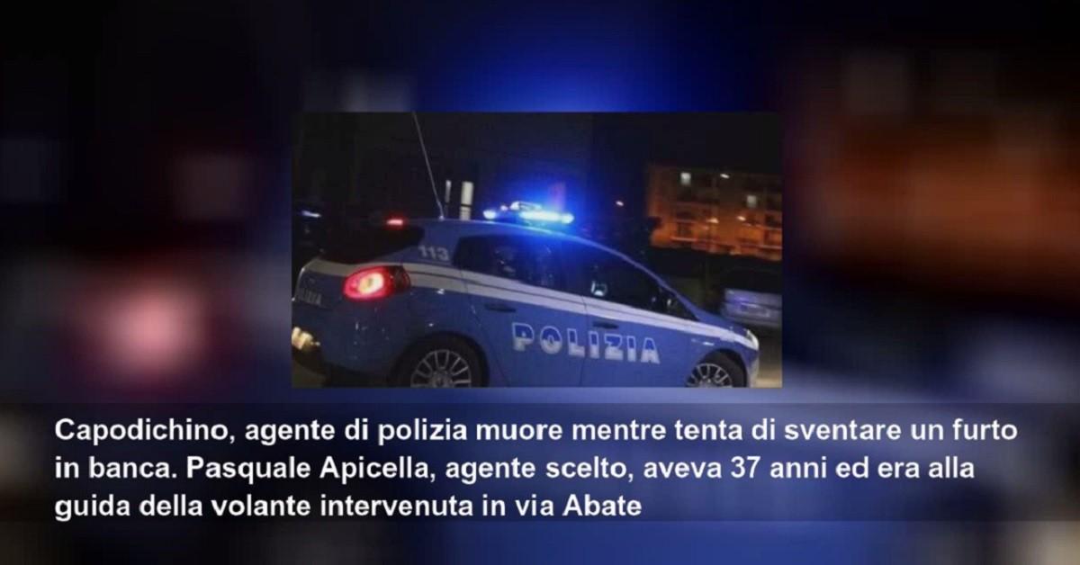 macchina polizia speronata