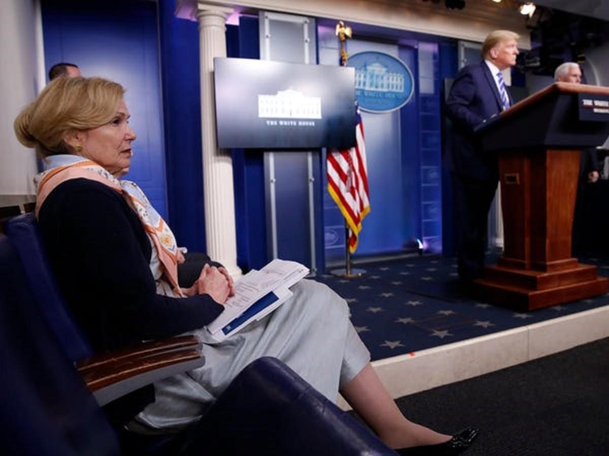 dottoressa Deborah Birx e Trump
