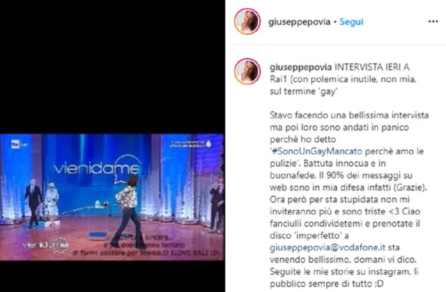 Giuseppe Povia Instagram
