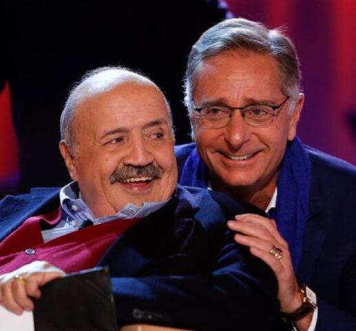 Paolo Bonolis con Maurizio Costanzo