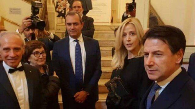 Giuseppe Conte e Olivia Paladino
