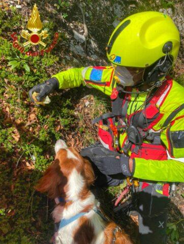 Vigili del fuoco salvano Paride