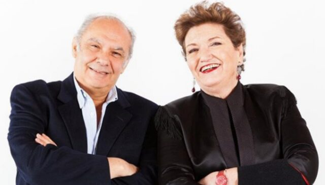 Alberto Salerno e la moglie