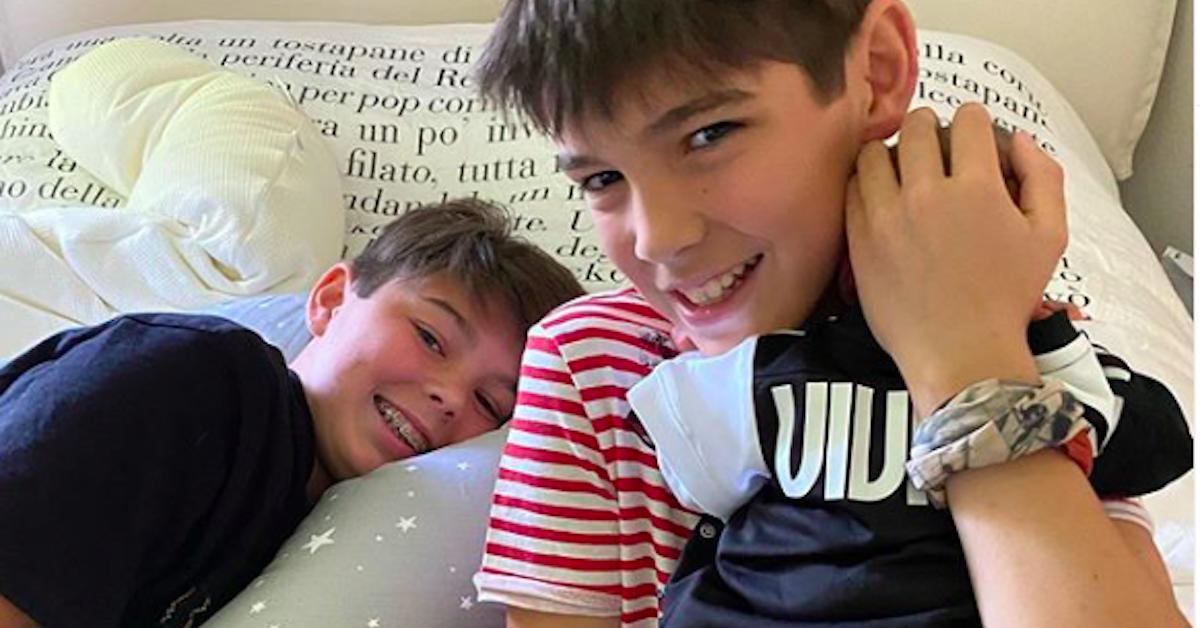 figli di Alena Seredova abbracciati